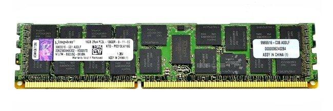 Memory RAM 1x 16GB Kingston ECC REGISTERED DDR3  1333MHz PC3-10600 RDIMM   KTD-PE313LV/16G