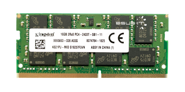 Memory RAM 1x 16GB Kingston SO-DIMM DDR4 2400MHz PC4-19200 | K821PJ