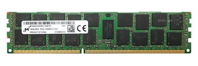 Memory RAM 1x 16GB Micron ECC REGISTERED DDR3  1333MHz PC3-10600 RDIMM | MT36KSF2G72PZ-1G4