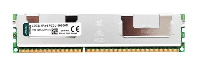 Memory RAM 1x 32GB Kingston ECC REGISTERED DDR3 4Rx4 1333MHz PC3-10600 RDIMM   KCS-B200AQLV/32G