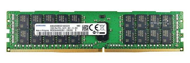 Memory RAM 1x 32GB Samsung ECC REGISTERED DDR4 2Rx4 2400MHz PC4-19200 RDIMM | M393A4K40CB1-CRC