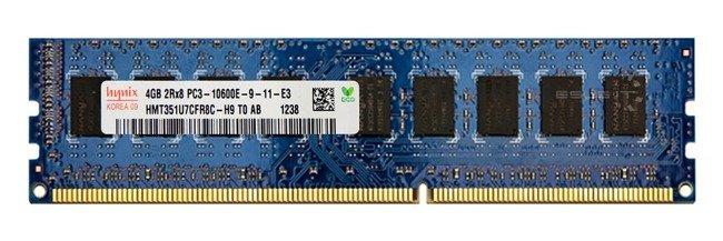 Memory RAM 1x 4GB Hynix ECC UNBUFFERED DDR3  1333MHz PC3-10600 UDIMM | HMT351U7CFR8C-H9