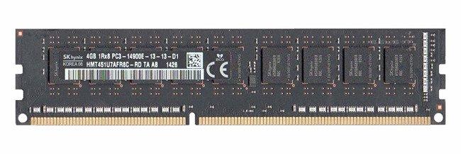 Memory RAM 1x 4GB Hynix ECC UNBUFFERED DDR3  1866MHz PC3-14900 UDIMM   HMT451U7AFR8C-RD