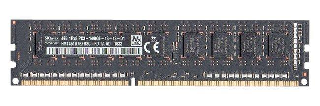 Memory RAM 1x 4GB Hynix ECC UNBUFFERED DDR3  1866MHz PC3-14900 UDIMM | HMT451U7BFR8C-RD