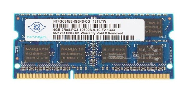 Memory RAM 1x 4GB Nanya SO-DIMM DDR3 1333MHz PC3-10600   NT4GC64B8HG0NS-CG