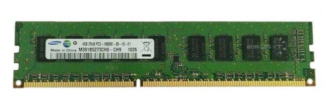 Memory RAM 1x 4GB Samsung ECC UNBUFFERED DDR3  1333MHz PC3-10600 UDIMM | M391B5273CH0-CH9