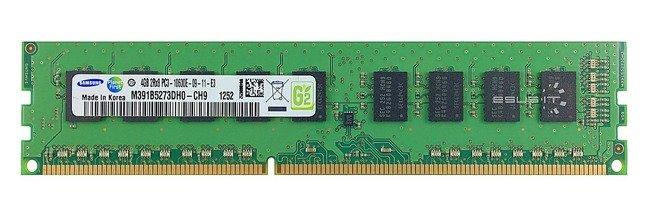 Memory RAM 1x 4GB Samsung ECC UNBUFFERED DDR3  1333MHz PC3-10600 UDIMM   M391B5273DH0-CH9
