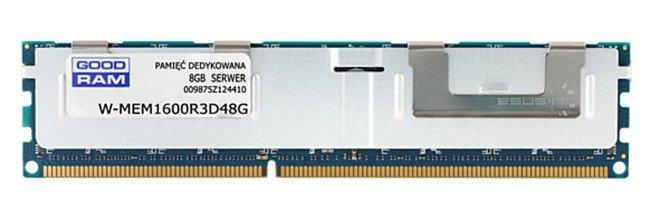 Memory RAM 1x 8GB GoodRAM ECC REGISTERED DDR3  1600MHz PC3-12800 RDIMM | W-MEM1600R3D48GH