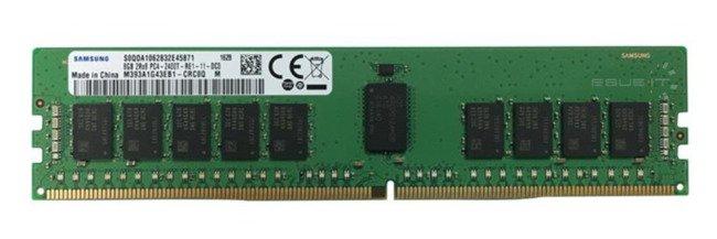 Memory RAM 1x 8GB Samsung ECC REGISTERED DDR4 2Rx8 2400MHz PC4-19200 RDIMM   M393A1G43EB1-CRC