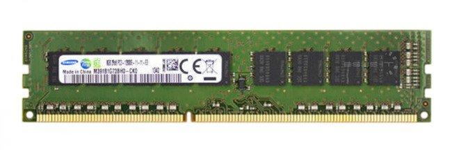 Memory RAM 1x 8GB Samsung ECC UNBUFFERED DDR3  1600MHz PC3-12800 UDIMM | M391B1G73BH0-YK0