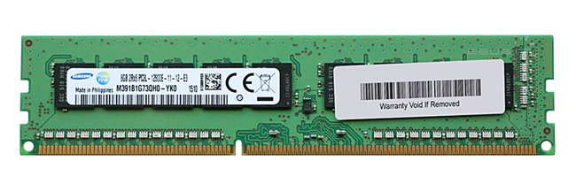 Memory RAM 1x 8GB Samsung ECC UNBUFFERED DDR3  1600MHz PC3-12800 UDIMM   M391B1G73QH0-YK0